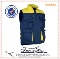 Cheap Garments Winter Padded Uniforms Construction Workwear Vest
