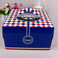navy blue unique birthday cake box wholesale box