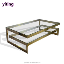 Modern style high quality glass top center table design