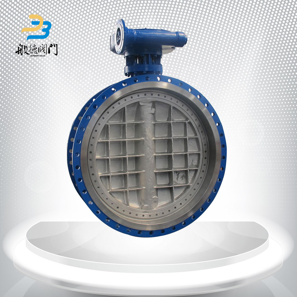 Double eccentric metal seal flange connection dn1000 butterfly valve