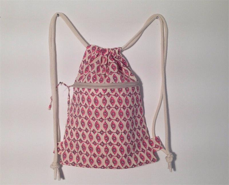 Pink Stars Cheap Nylon Leather Unisex Drawstring Bag