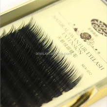 New beauty salon professional camellia mink eyelash extension 0.07 J B C mixed length in one rows soft 3D individual eyelashes