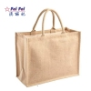 Wholesale Promotion Linen Hessian Hemp Jute Grocery Shopping Burlap Beach Tote Bag With Handle