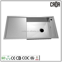 2015 hot sale 304 stainless steel handmade kitchen sinks above counter