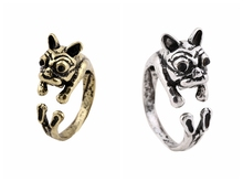 2016 Latest french dog animal ladies' finger men silver ring turkey for women jewelry