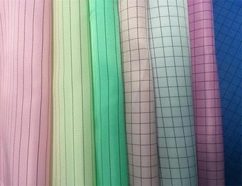 100% Polyester mesh esd antistatic conductive uniform clothing nonwoven fabric for cleanroom