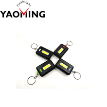 Most Popular Mini Keychain COB Led Keychain Flashlight 3 Mode Promotional Gift Keychain Light
