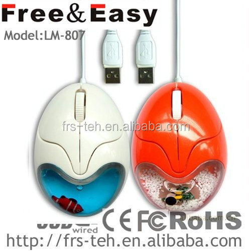cute 3d water mouse floater wired optical liquid mouse