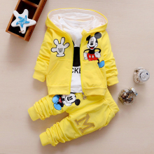 Hot Sale 2018 Spring Baby Girls Boys Clothes Sets Cute Infant Cotton Suits Coat+T Shirt+Pants Casual Kids Children Suits