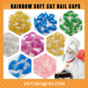 soft pet nail caps Cat nail caps candy color nail cap box package size xs s m l