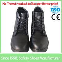 SF721 kitchen anti slip leather steel toe cap safety shoes