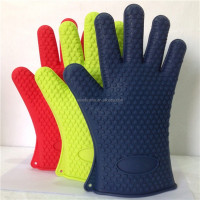 (High heat resistance )Silicone Oven, silicone bbq grill oven gloves or Grill Gloves - High Insulated Mitt Pot Holder