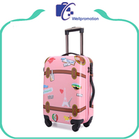 Promotional custom children travel trolley luggage bag for sale