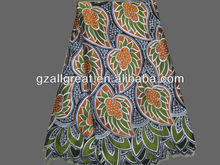 big heavy african lace fabrics/swiss voile lace with stone/ africa cotton laces