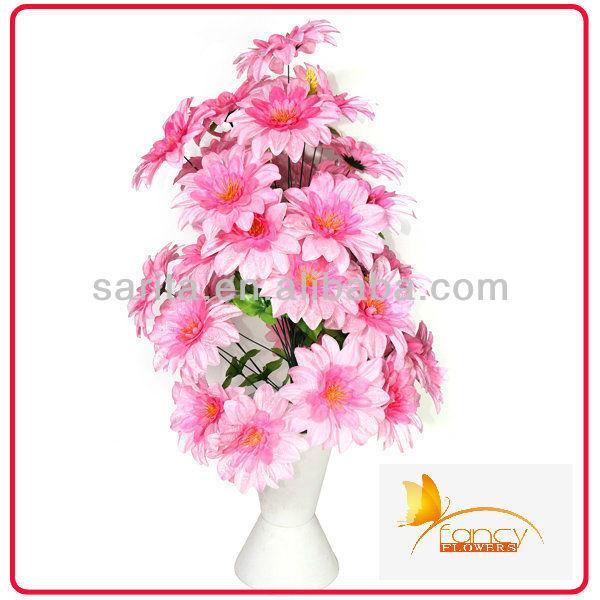 66 heads artificial peony flowers arrangements in vase