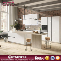 New product china manufacture malaine kitchen pantry cabinets