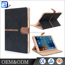 High quality PU leather flip cover wallet case with card soft for Apple Ipad pro cases