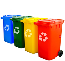Hot sale 50L green colorful household plastic garbage can