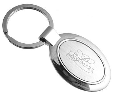 Hot Promotion Gift Of Elegant Oval Engraved Keychains