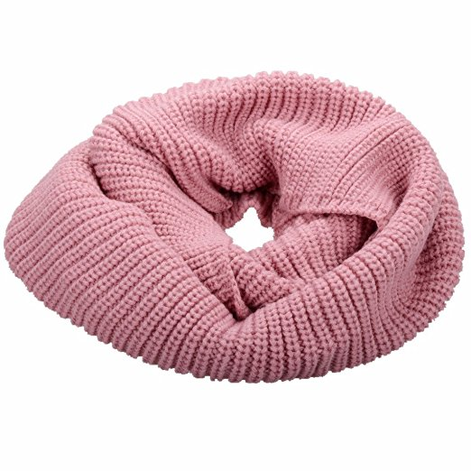 Fashion Faux Trim Neck Warmer Infinity Blend Multicolor Fancy Pattern Free Winter Woman Knit Scarf