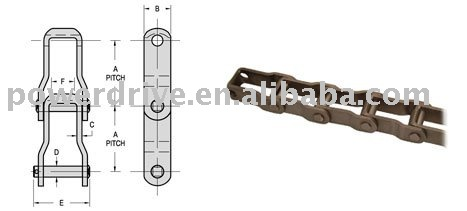 pintle chain 667X/conveyor chain/chain