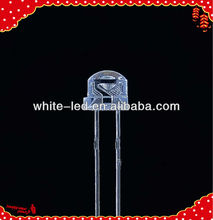 yellow LED 5mm straw hat led diode Sombrero de paja blanco de 5mm de LED