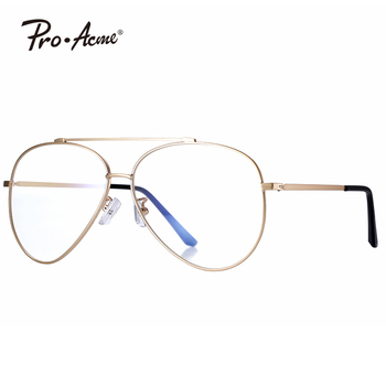 Pro Acme Fashion Newest Style Polygon Optical Gold Frame Glasses Men Brand Clear Lens Glasses Eyeglasses spectacle Frame PA0916