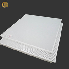 Soundproof Function Decorative Suspended Perforated Aluminum Ceiling Panel False Metal Ceiling Tiles