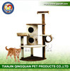 Aimigou wholesale china deluxe wooden sisal cat tree house cat furniture
