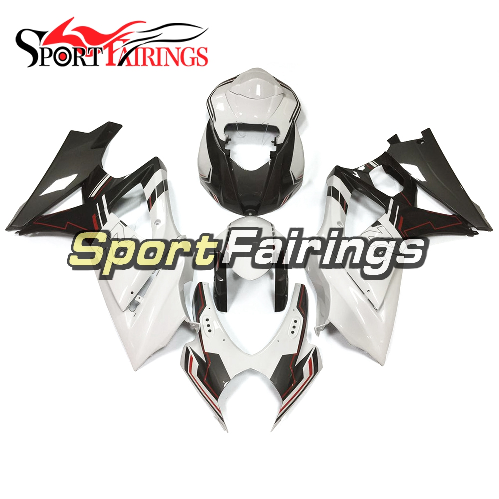 White Grey Injection Fairings For Suzuki GSXR1000 K7 07 08 GSX-R 1000 2007 2008 ABS Complete Motorcycle Fairing Kit
