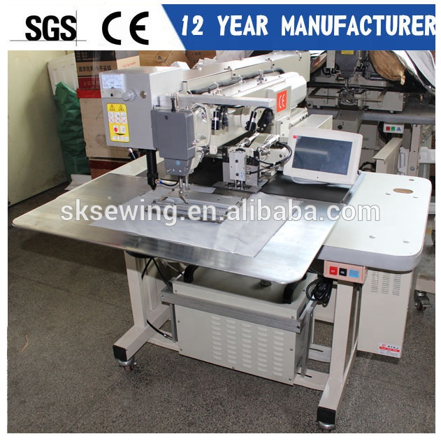 Automatic Laster trousers welting pocket placket industrial sewing machine