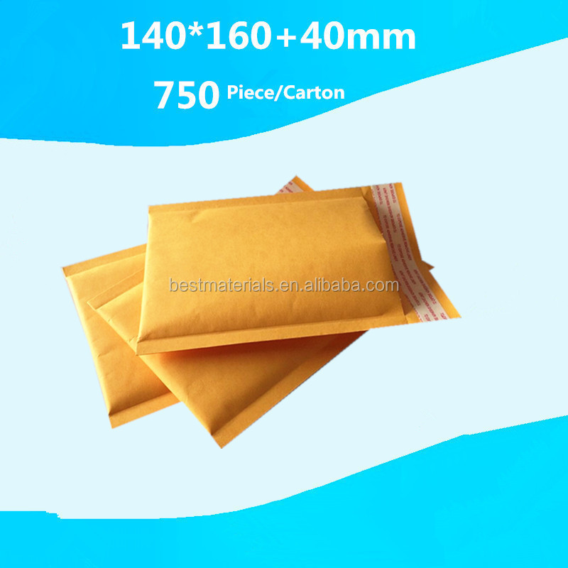 Personlized decorative 5 x 7 envelopes top grade quality kraft padded bubble envelopes