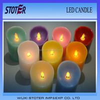 Flicker flameless moving wick/dancing flame led candle
