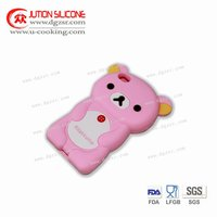 silicone pink funny cover for iphone 4