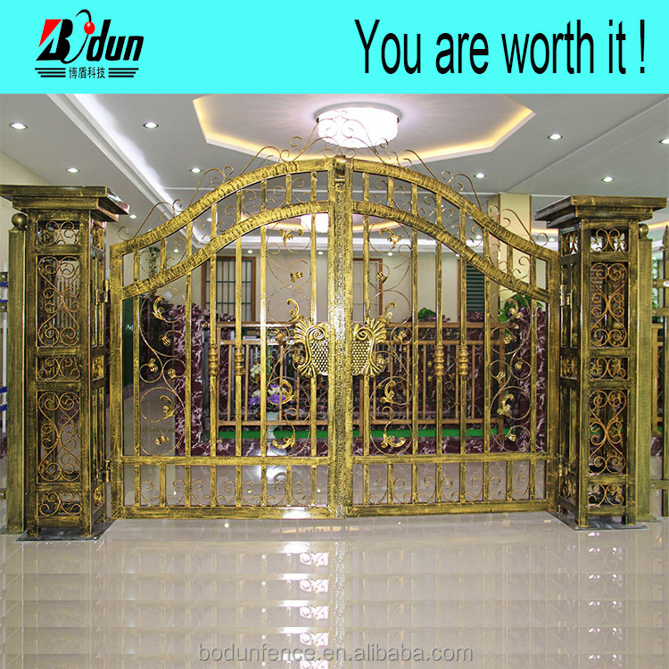 Different color design of steel gate colors designs