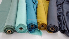 100% pure linen stone washed fabrics in many colors for clothes