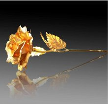 valentine's day gift 24k 99 golden artificial rose S