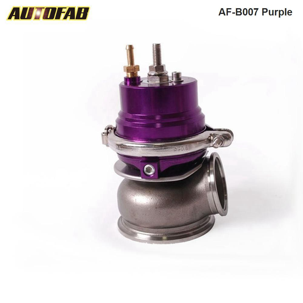 AUTOFAB -- Purple 60MM Turbo Charge Manifold Exhaust V-Band <strong>External</strong> <strong>Wastegate</strong>+12PSI Spring (24PSI ) AF-B007 Purple