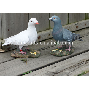 Wholesale Customized Resin crafts artificial pigeon decorations dove statue sculpture