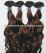 "Wholesale hot selling 18"" virgin Brazilian hair I tip extension"
