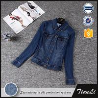 Breathable Spring Size Women Jean Jacket