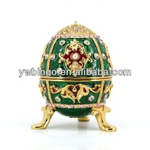 2014 HOT sell easter egg antique metal jewellery box yiwu(M4183)