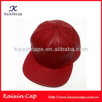 Red real leather snapback hats baseball hip hop cap reasonable price OEM