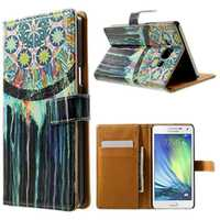 Painting Luxury PU Leather Card Slot Cover Case Wallet for IPhone 4s 5s 5c IPhone 6 for Samsung Galaxy A3 A5 S3 S4 S5