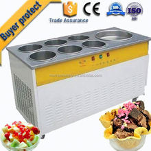 Large Capacity stainless steel single pan rolled fry ice cream pan machine gold supplier