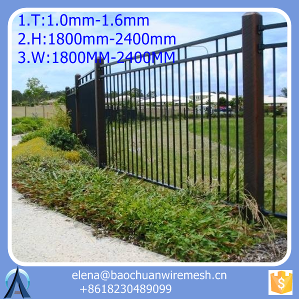 20*40 mm rail or 40*40 mm or 45*45 mm rail metal fence brace