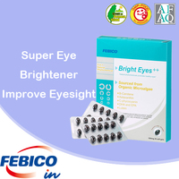 100% Natural Phytochemicals Extracted From Microalgae Super Eye Brightener Improve Eyesight Nutrition Supplement Made In Taiwan