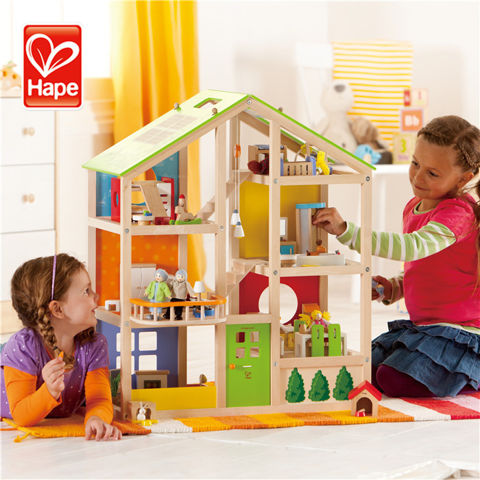 Hape brand Hot new products wholesale child wooden doll house happy kid toy