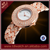China Alibaba Express Hot Sale Luxury Bling Diamond Jewelry Custom Design Lady Wrist Watches