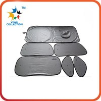 front window roll up cute silver cloth car parking cover sun shade